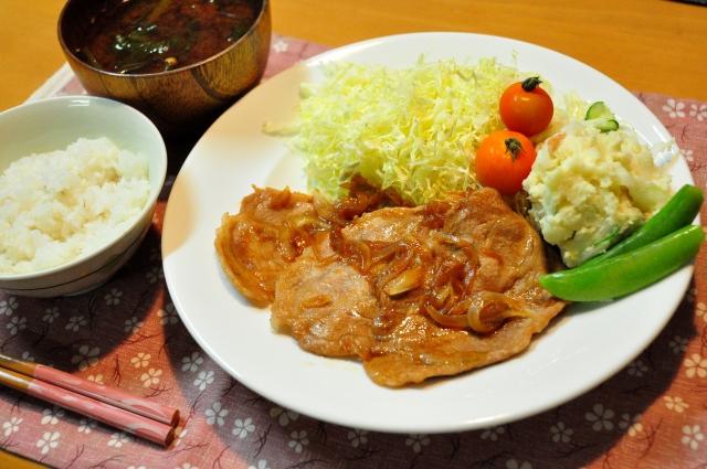 ビタミンB1の多い豚肉のしょうが焼き