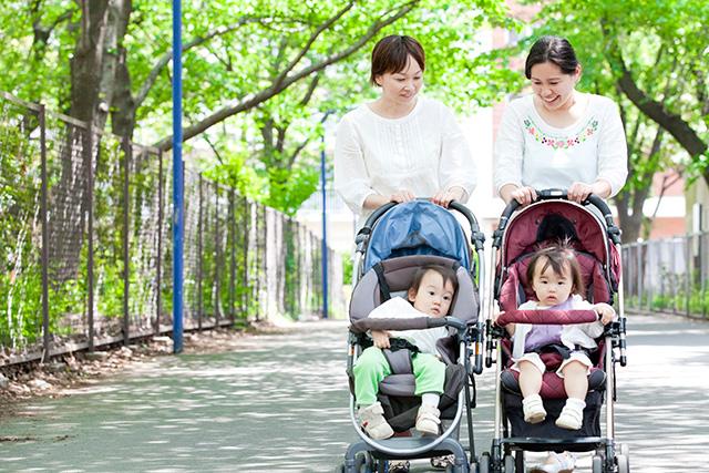 ママ友と散歩