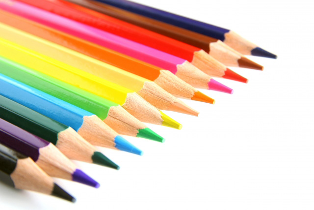 12色の色鉛筆
